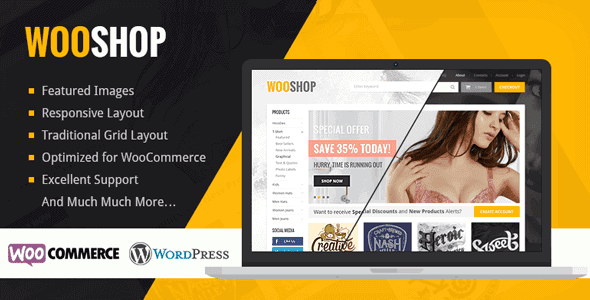 Wooshop – Responsive Wordpress Woocommerce Theme