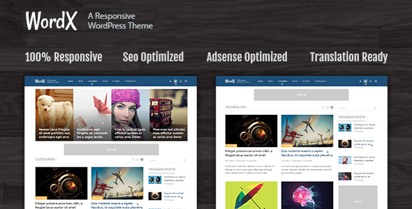 Wordx – Wordpress Theme For Blogs And Online Magazines