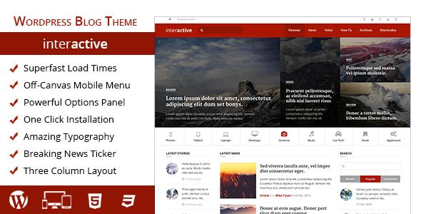 Interactive – Highly Professional Blog Wordpress Theme