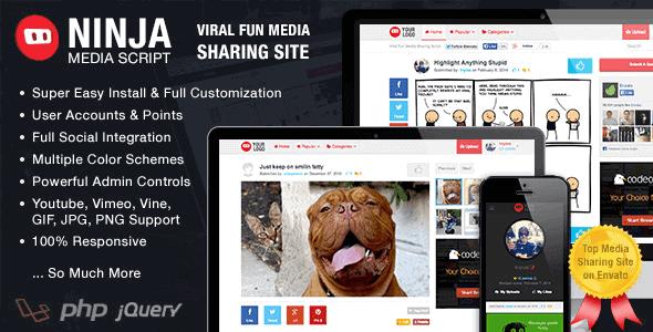 Ninja Media Script – Viral Fun Media Sharing Site