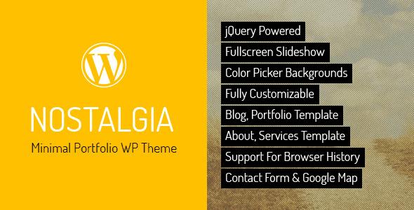 Nostalgia – Portfolio Wordpress Theme