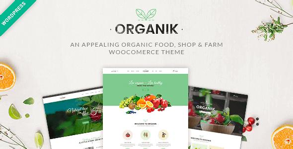 Organik – An Appealing Organic Store Farm & Bakery Woocomerce Theme