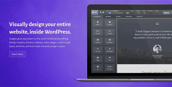 Oxygen – Visual Website Design Inside Wordpress