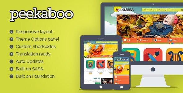 Pekaboo For Wordpress – Children Theme Template