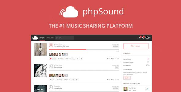 Phpsound – Music Sharing Platform
