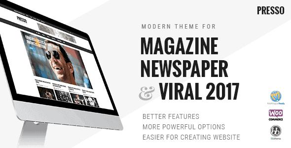 Presso – Clean & Modern Magazine Theme