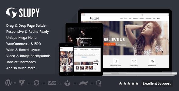 Slupy | Responsive Multi-Purpose Wordpress Theme