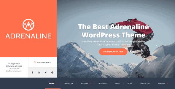 Adrenaline – Wordpress Theme Adventure Activities