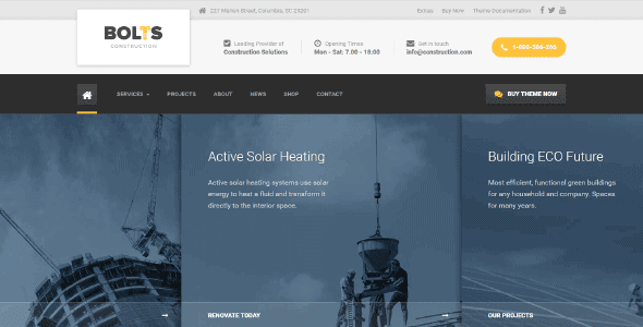 Bolts Construction – Wordpress Theme For Engineering