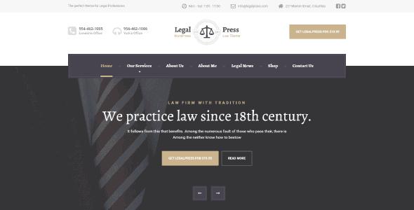 Legalpress – Wordpress Theme For Attorneys