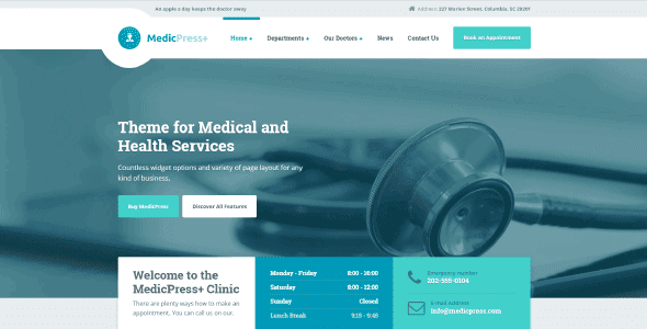 Medicpress – Medical Wordpress Theme For Doctors And Clinics