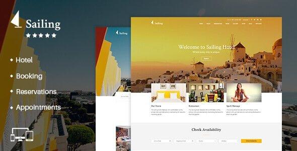Sailing – Hotel Wordpress Theme