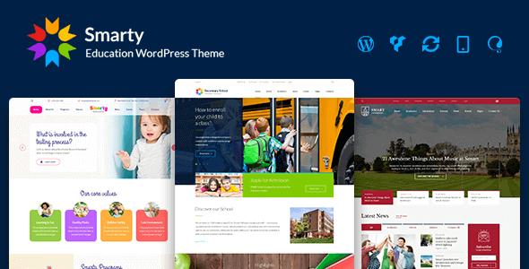 Smarty – Kindergarten School University College Learning & Education Wordpress Theme