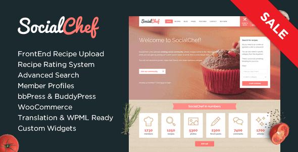 Socialchef – Social Recipe Wordpress Theme