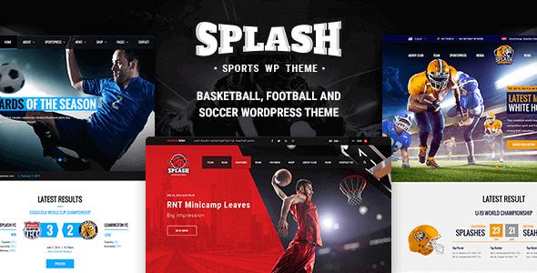 Splash – Basketball Football Soccer Sports Wordpress Theme