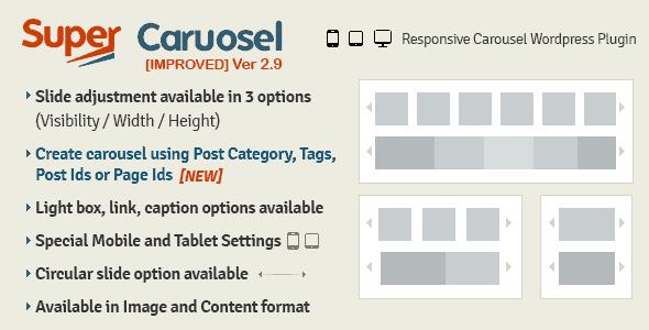 Super Carousel – Responsive Wordpress Plugin