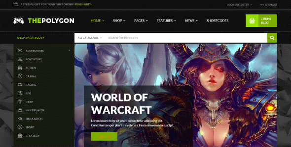 Yith The Polygon – The Ultimate Theme For Digital Goods And Pro Gamers