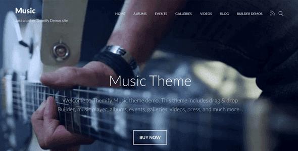 Themify Music - Wordpress Theme