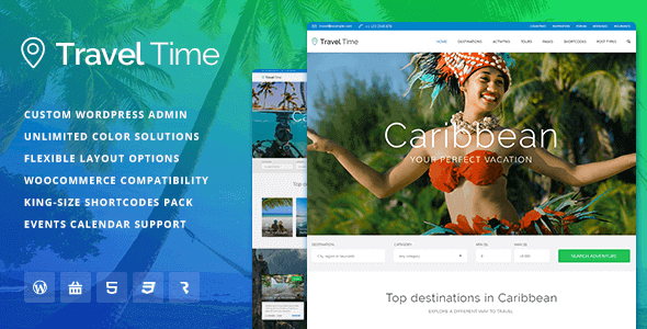 Travel Time – Tour Hotel And Vacation Travel Wordpress Theme