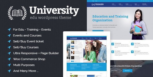 University – Education Event And Course Theme
