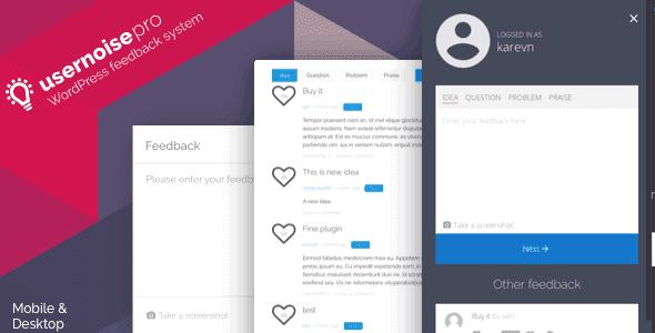 Usernoise Pro – Modal Feedback & Contact Form