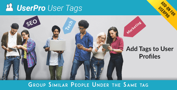 Userpro Tags Add-On