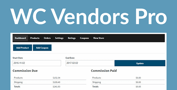 Wc Vendors Pro – Vendors Receive Commissions You Set On Products