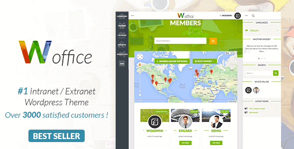 Woffice – Intranet/Extranet Wordpress Theme