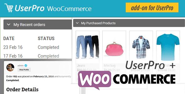 Userpro Woocommerce Integration