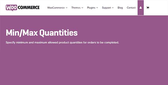 Woocommerce Min Max Quantities