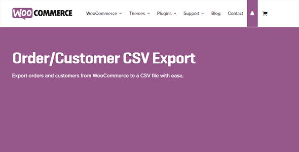 Woocommerce Order Customer Csv Export