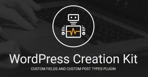 Wordpress Creation Kit Pro – Custom Fields And Custom Post Types Plugin