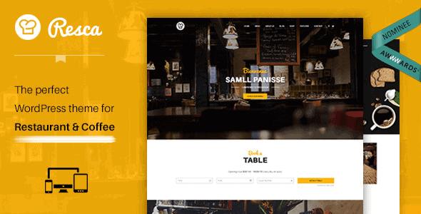 Resca – Wordpress Restaurant Theme