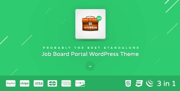 Wpjobus – Job Board And Resumes Wordpress Theme