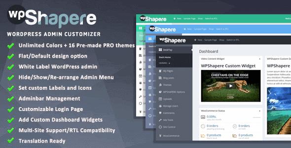 Wpshapere – Wordpress Admin Theme