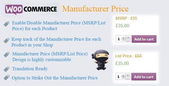 Woocommerce Manufacturer Price