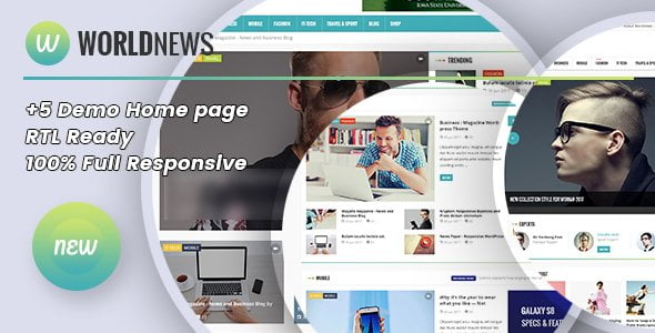 WorldNews - Magazine  RTL Responsive WordPress BlogMagazine