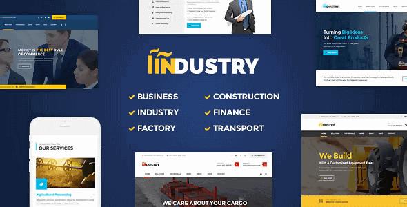 Industry – Business Factory Construction Transport & Finance Wordpress Theme