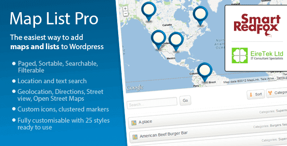 Map List Pro – Google Maps & Location Directories