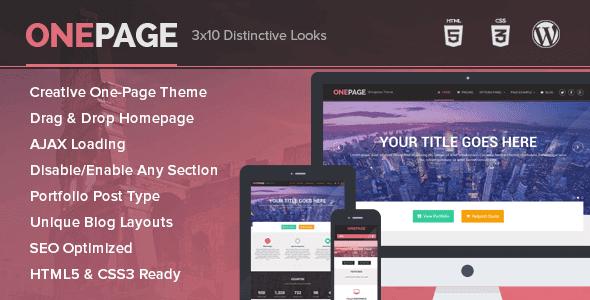Onepage – Portfolio And Business Wordpress Theme