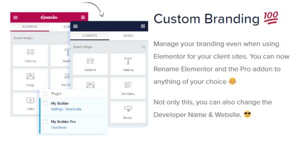 White Label Branding for Elementor
